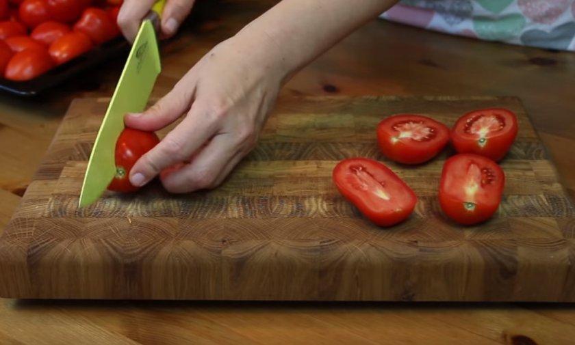 Разрезание помидоры