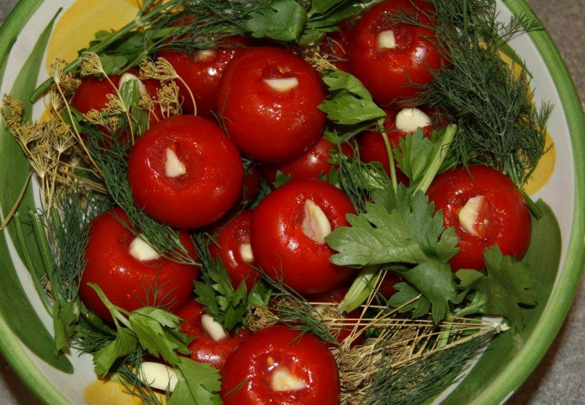 Сухая засолка помидоров черри