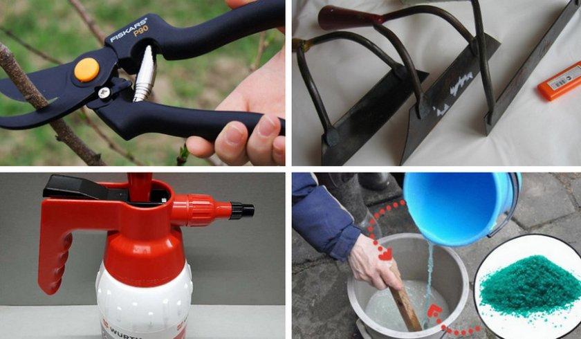 Инструменты для работы в саду