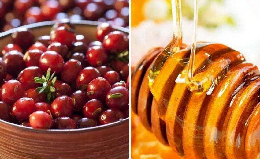 Свойства клюквы с мёдом