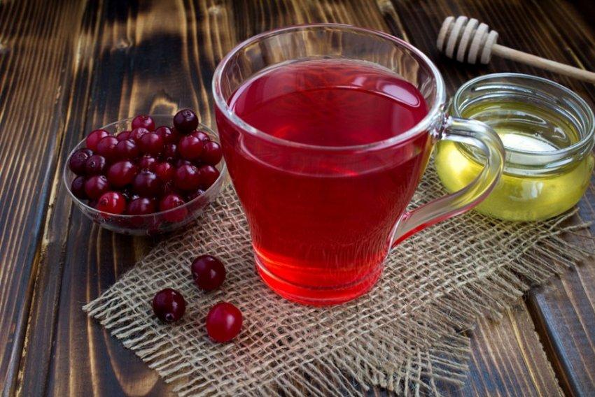 Медово-клюквенный напиток